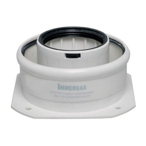 Фланец прямой коаксиальный 60/100 для конденсационных котлов Immergas 3.012086 фото
